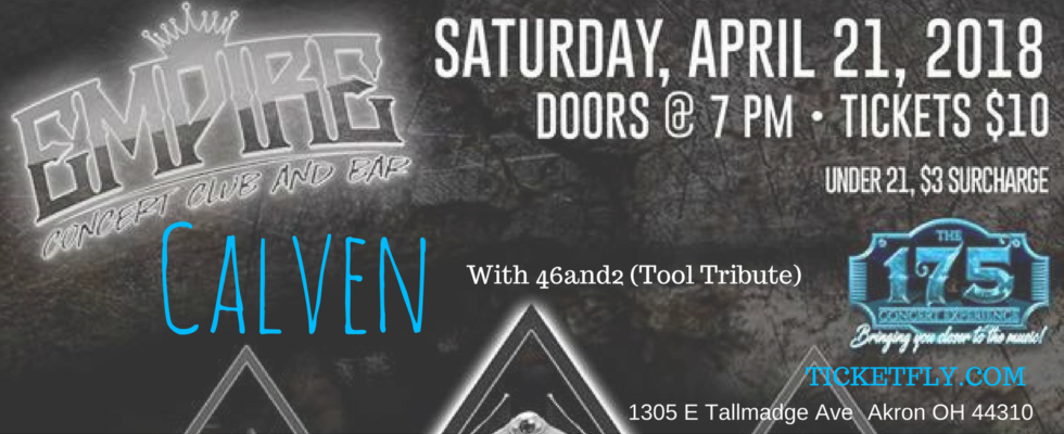 Calven – with 46&2 Tool Tribute
